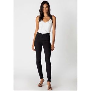 J Brand Maria High-Rise Skinny In Seriously Black